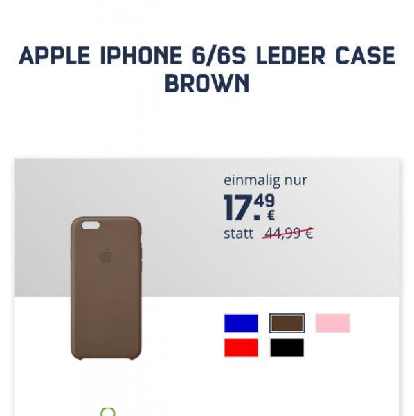 APPLE IPHONE 6/6S LEDER CASE BROWN