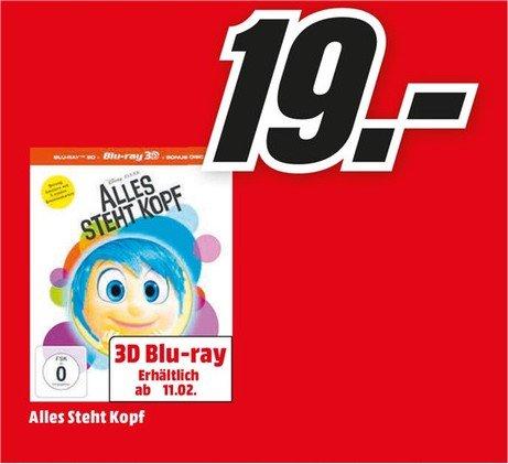 [Mainz,Alzey,Bischh.]Alles steht Kopf 3D Blu Ray (limitiert) zum Release 19,00€