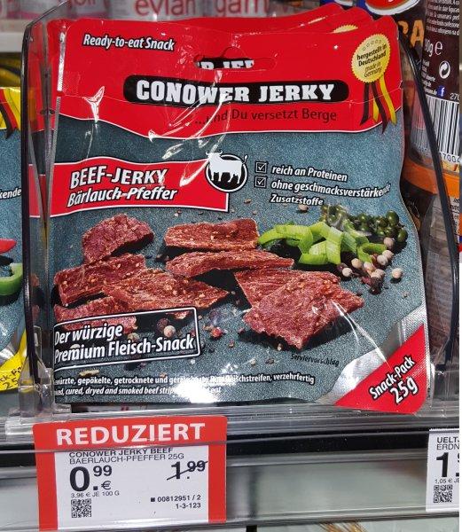 [Lokal Müller Nürnberg, evtl Bundesweit] Conower Beef Jerky 25 g   99 Cent
