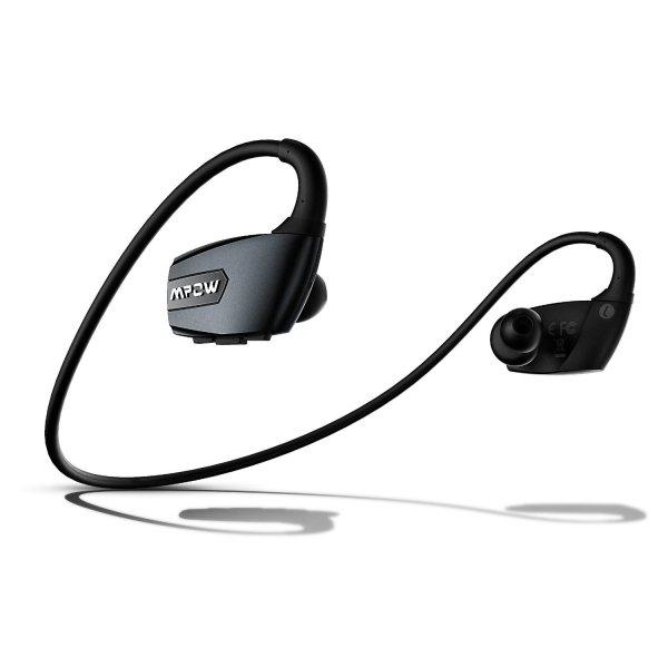 Antelope Bluetooth 4.1 Sports Kopfhörer mit Freisprechfunktion, CVC6.0 Geräuschreduktion, für Laufen, Gym usw. - Schwarz (amazon)