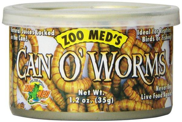 Zoo Med Can O' Worms 35g, 3er Pack Mehlwürmer für Reptilien, Amphibien und Vögel für 1,38 € im Spar-Abo