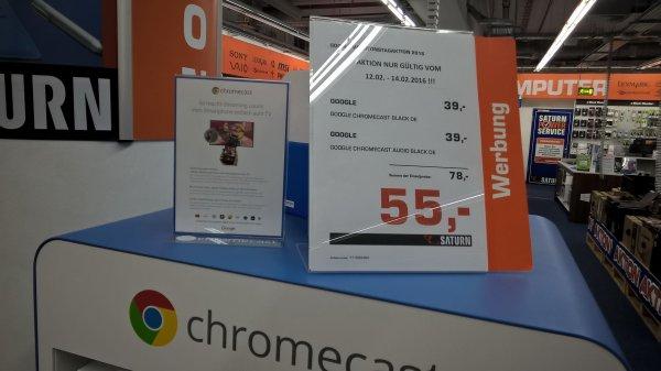 [Saturn Celle (eventuell bundesweit?)] Chromecast Valentinstagaktion * Chromecast 2015 und Chromecast Audio zusammen für 55€