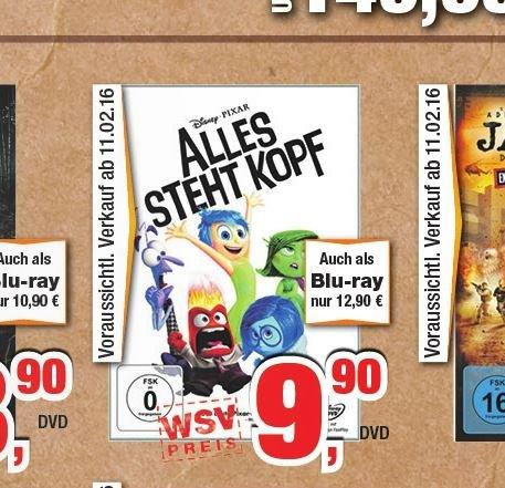 "Lokal bei Expert Bening: ""Alles steht Kopf"" Blu-ray 12,90 EUR /  DVD 9,90 EUR"