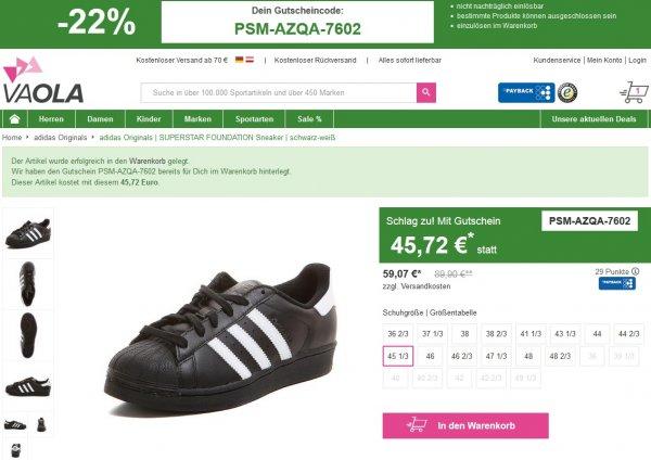 adidas Originals SUPERSTAR FOUNDATION Sneaker [noch viele gängige Größen vorhanden!]