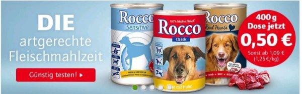 Rocco Hundenassfutter die 400 gr. Dose nur o,50€ und 5€ Cashback von Zooplus erhalten beim Kauf von Whiskas oder Pedigree
