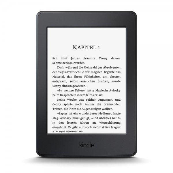 Kindle Paperwhite (6 Zoll) mit integrierter Beleuchtung, WLAN - mit Spezialangeboten Amazon 99,99€