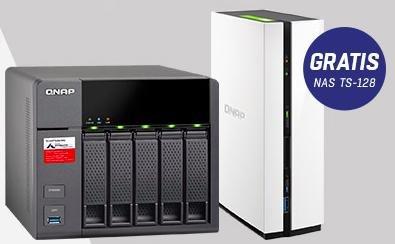 QNAP TS-563 - 5 Bay NAS-Server + QNAP TS-128 1 Bay NAS-Server für 500€ bei Redcoon.de