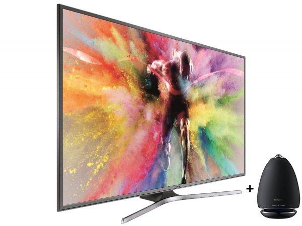 "[Amazon] Samsung UE60JU6850 UHD Smart TV 60"" Silber Triple Tuner + Samsung R6 Speaker WAM6500 / WAM6501"