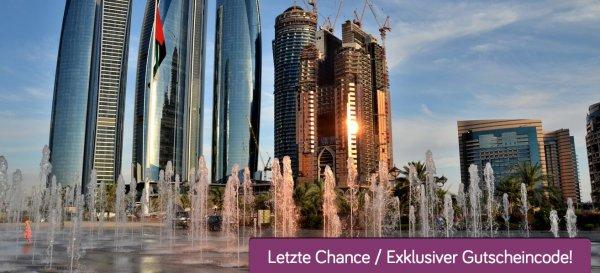 1001-Nacht in Abu Dhabi: 7 Tage im sehr guten 4* Hotel schon für 493€ inkl. Frühstück, Flügen und Transfer (5* Hotel für 549€)