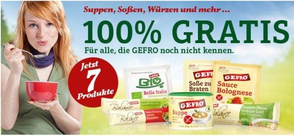 100% GRATIS GEFRO Probierpaket mit 7 original GEFRO Produkten