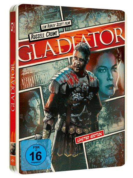 Gladiator - Reel Heroes Edition / Steelbook (Blu-ray) für 9,49€ bei Media Dealer