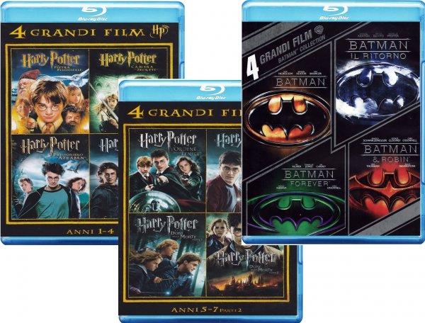 [Amazon.it] 12 Blu-Rays, z.B. alle Harry Potter + alle alten Batman komplett mit deutschem Ton für 28,97€ inkl. Versand