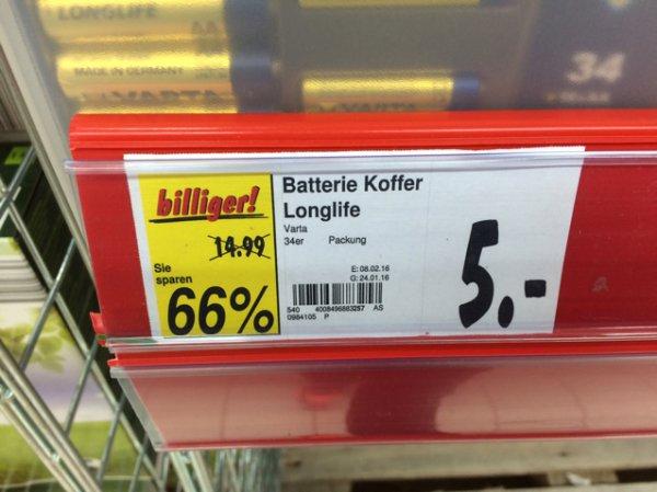 Batterie Koffer Varta Longlife 34 Teilig Kaufland Nieder Mörlen