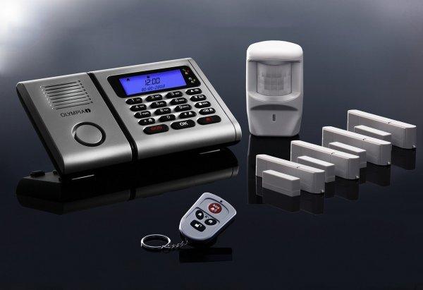 [Plus] Premium Olympia Protect 6061 Drahtloses Alarmanlagen-Set mit 4 Tür-/Fensterkontakten und Bewegungsmelder