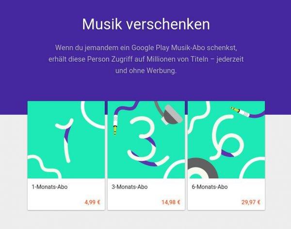 Google Play Musik zum halben Preis