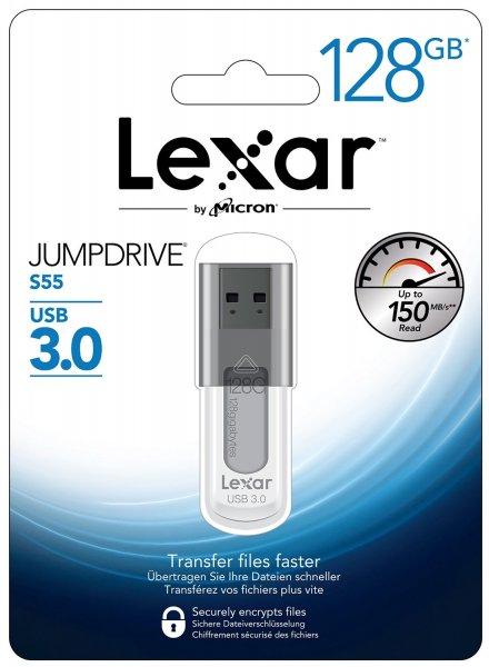 [Mymemory.de] Lexar 128GB JumpDrive S55 3.0 USB Stick - 150MB/s für 26,99€ inkl. Versand