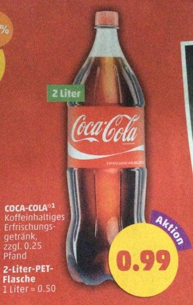 (Penny)2 Liter Coca-Cola für 0,99€(1 Liter = 0,50€)