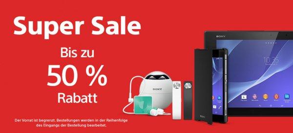 [Sony Xperia Store] Kleine Auswahl an Sony Zubehör 50 % günstiger
