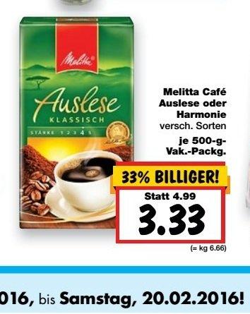 [Kaufland] Melitta Cafe Auslese oder Harmonie versch Sorten 3,33€