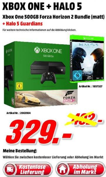 Microsoft Xbox One 500GB + Forza: Horizon 2 + HALO 5 - Kostenlose Lieferung DE - Media Markt Porta Westfalica