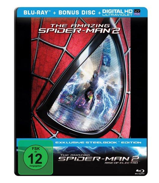 The Amazing Spider-Man 2: Rise of Electro (Steelbook) [Blu-ray + Bonus Disc] für 7,90€ bei Media Markt & Amazon.de (Prime)