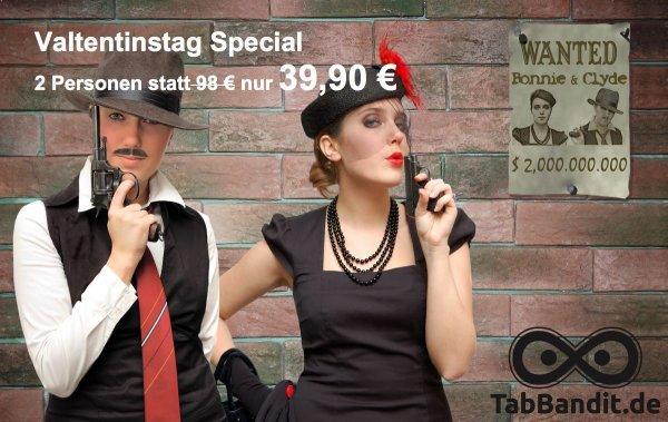 39,00 statt 98,00 €Valentin Special The Target Gutschein für 2 Personen