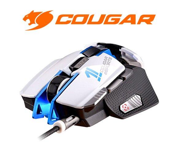 [One] Cougar 700M Laser Gaming Maus eSports Edition blau/weiß