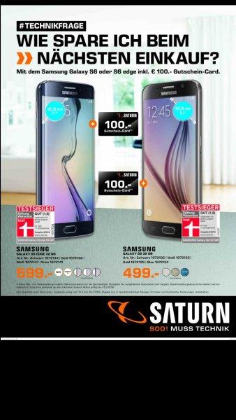 Samsung S 6 499€ + 100€ Gutschein