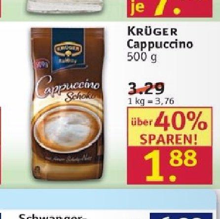 Rossmann Krüger Cappuccino 1,88€ - 10% Rossmann coupon  =1,69€ 15.02.2016 - 19.02.2016