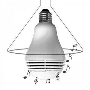 MiPow LED-Lampe mit Lautsprecher Playbulb lite warm-weiß silber