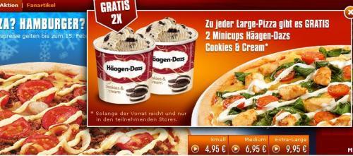Smileys Pizza Profis -2x Häagen Dazs 100ml Gratis