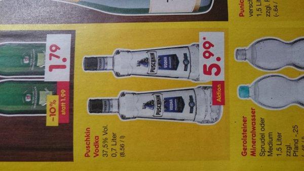 Netto MD bundesweit? puschkin wodka 0,7l für 4,80€ u. Kiste Bitburger für 8,64€