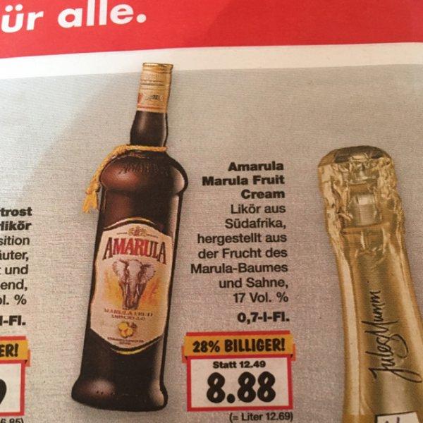 [Kaufland Freiberg] 0,7l Amarula Cream für 8,88€