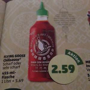 Penny ab Montag Flying Goose Chilisauce scharf oder sehr scharf 2,59€