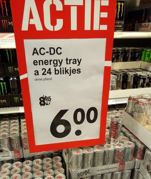 [Grenzgänger][NL]AC DC Energy 24 Dosen 6Euro