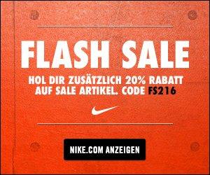 20% Rabatt auf SALE im Nike Store von So bis Mo (auch auf ID Artikel)