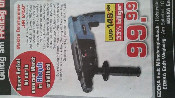 """Makita Bohrhammer """"HR2450"""" für 99.99€ @ Edeka"""