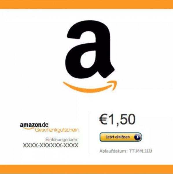 {eBay} Amazon Gutschein 2€ Wert für 1,50€