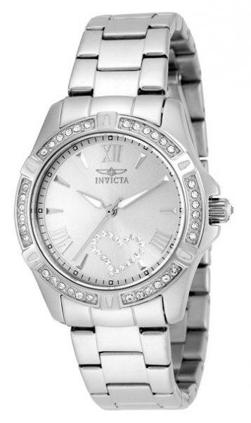[Amazon Marketplace] Invicta 21383 analoge Damen-Armbanduhr mit Quarzuhrwerk, silberfarbenem Zifferblatt und Edelstahlarmband für 55,95 € (nur noch 1x), bei Amazon direkt für 58,19 € / alter Preis 215,26 €