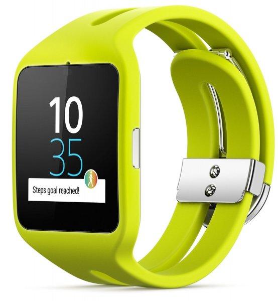 """[Amazon.fr] Sony Smartwatch 3 - Fitnesstracker & Smartwatch - in """"lime"""" (wechselbar) für 103,84€"""