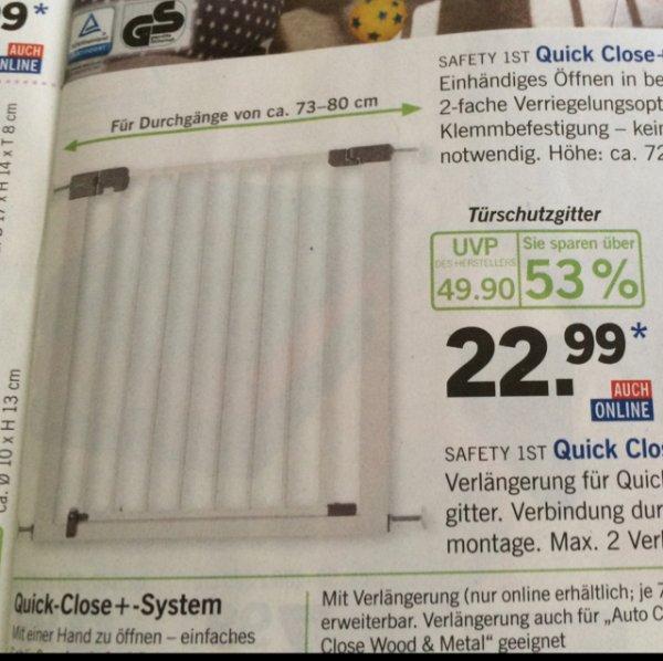 [Offline Lidl ab 18.2.] Türschutzgitter 1st Safety 22,99€