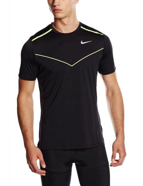 Nike Herren Laufshirt schwarz Kurzarm L