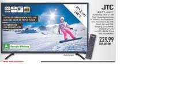 "Jay Tech JTC 40"" TT für 229€ @ Marktkauf viele Märkte"