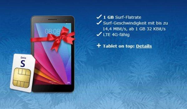 [nur o2 Kunden] Huawei MediaPad T1 7.0 +. 1GB Datenflat für 5€/Monat keine Anschlussgebühr