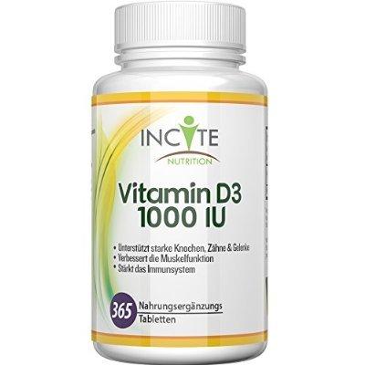 [Amazon Prime] Vitamin D3 hochwirksame 1000 IU 365 Tabletten (Jahresvorrat)für 1,11€