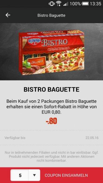 [HIT Markt] (Lokal?) 2 Packungen Bistro Baguette 0,90 nur Mittwoch und Donnerstag