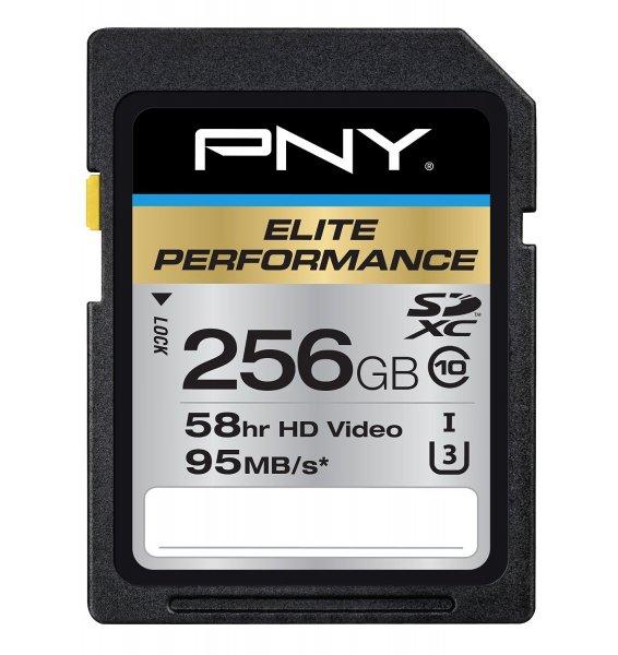 PNY SDXC Elite Performance 256GB Class 10 U3 für 76,69€ bei Amazon.com