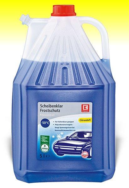 Scheibenklar Frostschutz 5 Liter -50 Grad  K-Classic Kaufland Frankenberg/Sa. 1,99 € statt 4,99 €