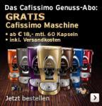 Tchibo Cafissimo Maschine im Abo für €216 mit 720 Kapseln, oder €36 und genug Kaffee