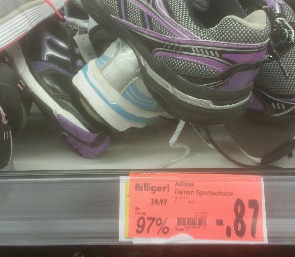 Lokal Bochum Kaufland Adidas Schuhe zwischen 89cent und 1.19€
